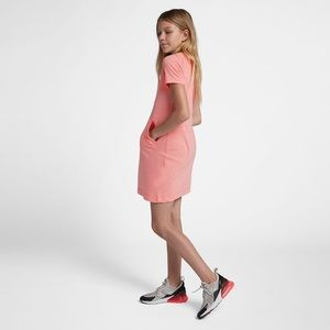 Nike Sportswear Vintage Girls Dress Pink Size XL